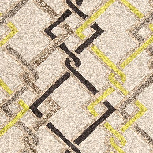 Asaka Beige Tan 5 ft. x 8 ft. Indoor/Outdoor Transitional Rectangular Area Rug