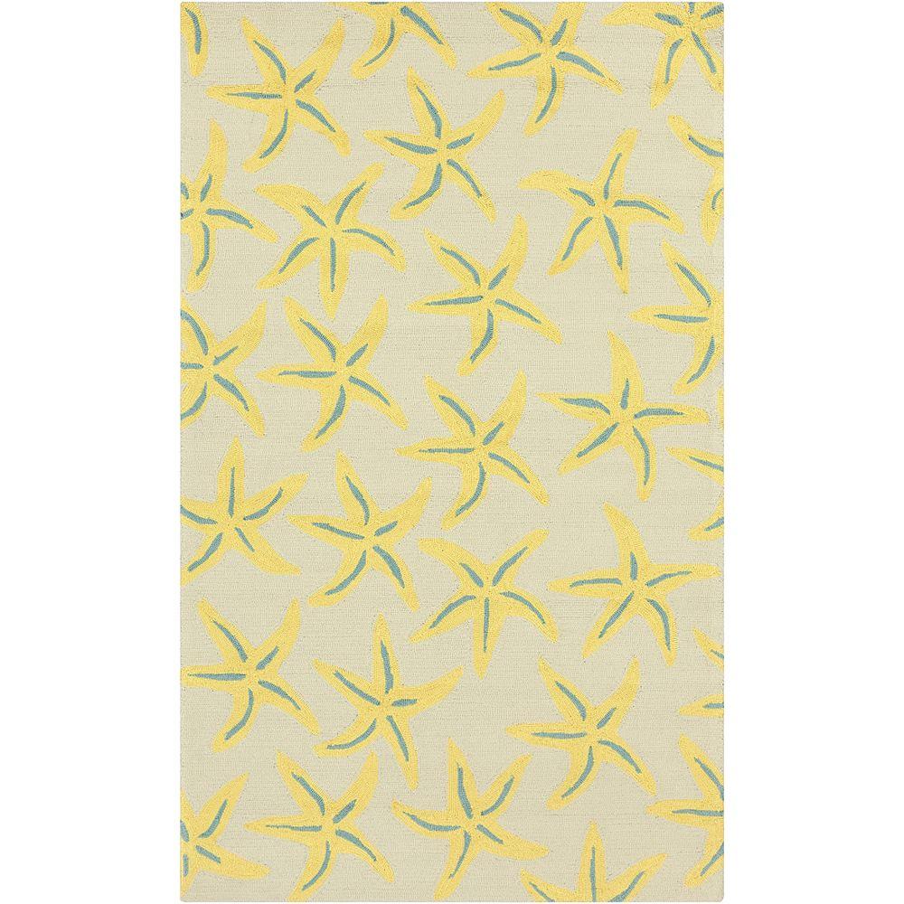 Artistic Weavers Carpette, 2 pi x 3 pi, rectangulaire, jaune Federia