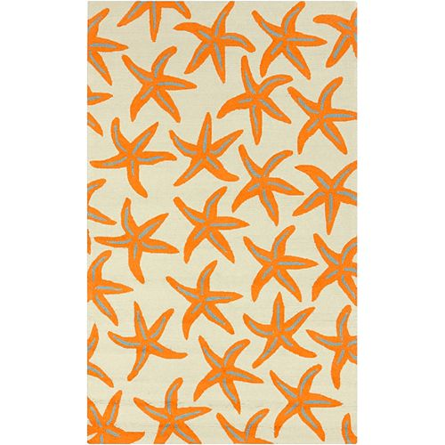 Artistic Weavers Regina Orange 8 ft. x 10 ft. Indoor/Outdoor Transitional Rectangular Area Rug