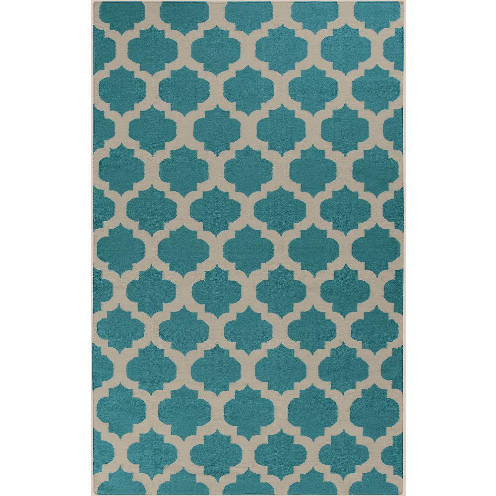 Artistic Weavers Carpette, 8 pi x 11 pi, rectangulaire, bleu Saffre