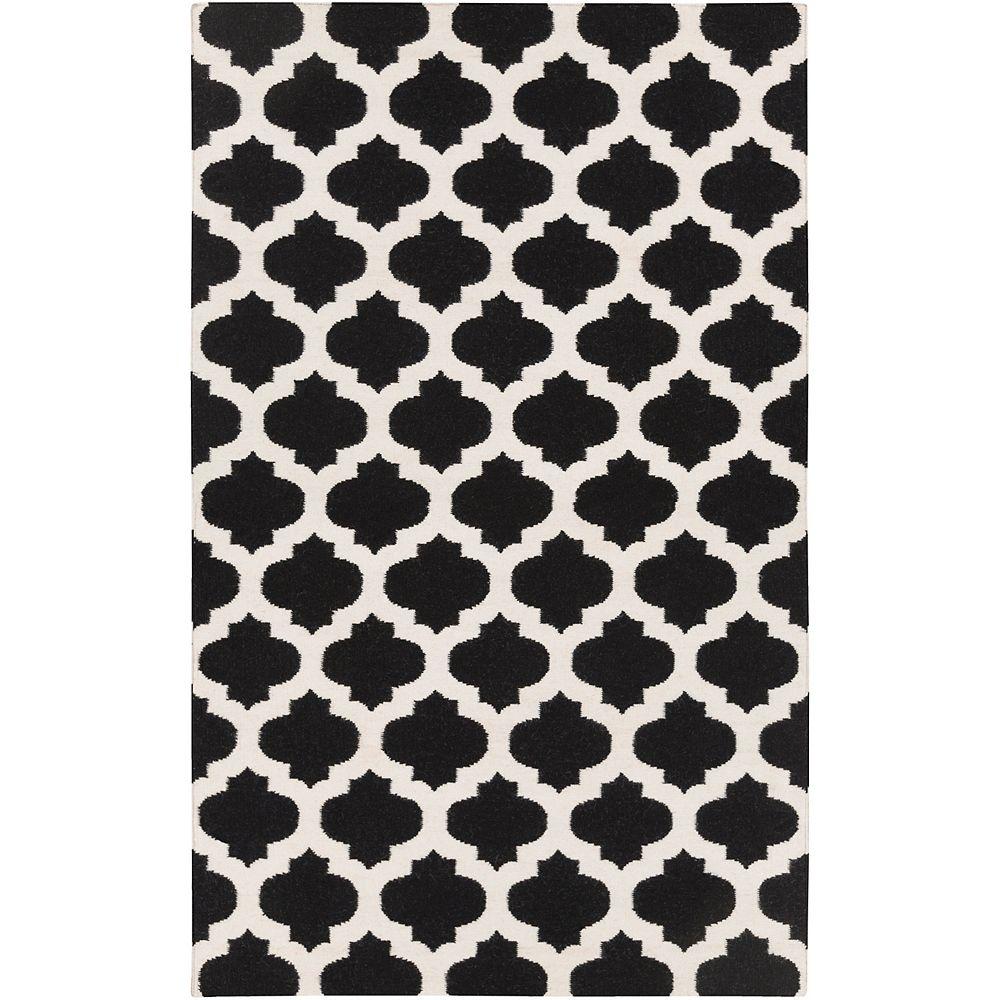 Artistic Weavers Carpette d'intérieur, 2 pi x 3 pi, style contemporain, rectangulaire, noir Saffre