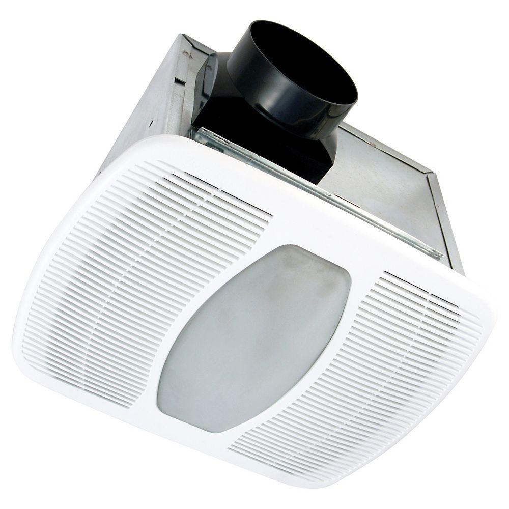 Air King Ltd Ventilateur d'extraction Zone silencieuse ENERGY STAR<sup>®</sup> avec lumière 100 PCM@ 2,0 Sones LEED<sup>®</sup> pour les maisons