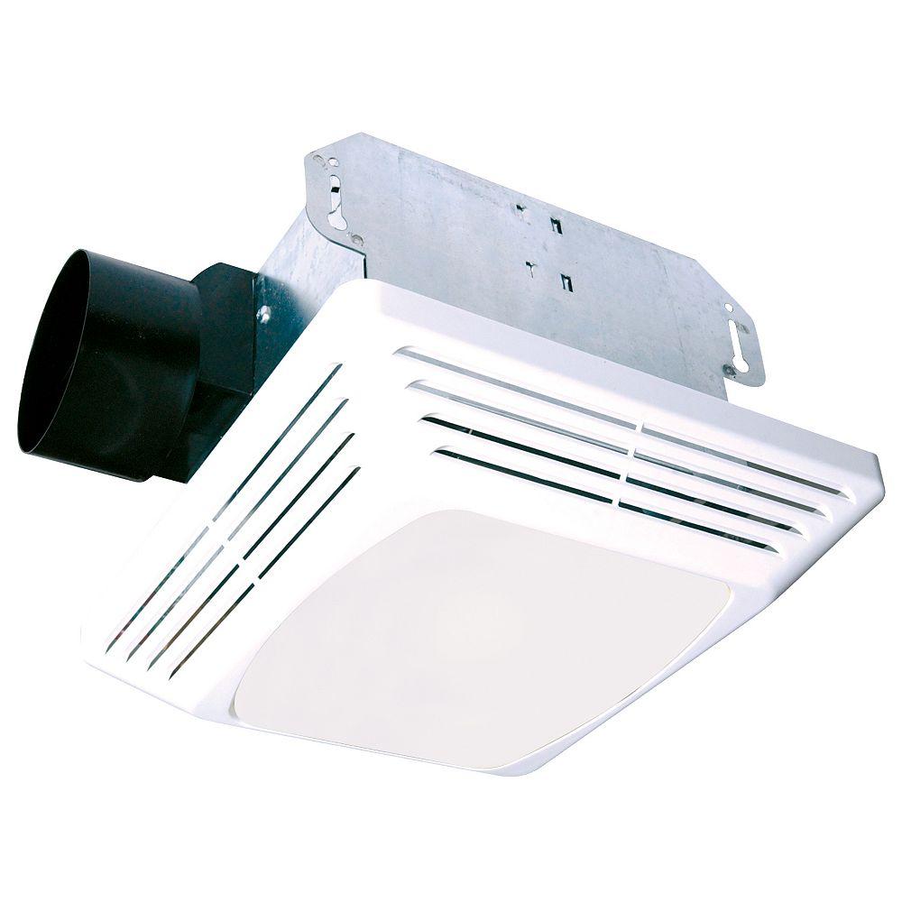 Air King Ltd Ventilateur d'extraction Avantage avec lumière, conduit circulaire de 4 po 70 PCM@ 4,0 Sones