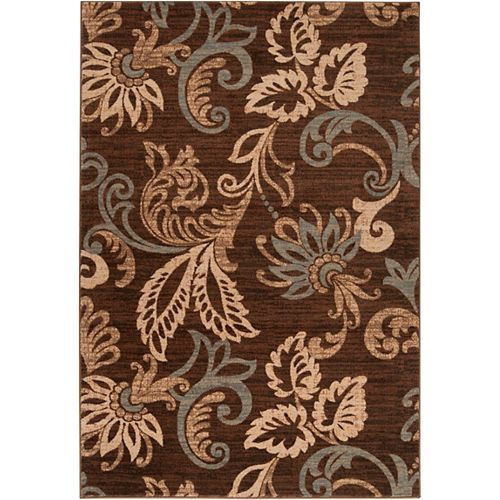 Artistic Weavers Pokigra Brown 7 ft. 10-inch x 10 ft. 10-inch Indoor Transitional Rectangular Area Rug