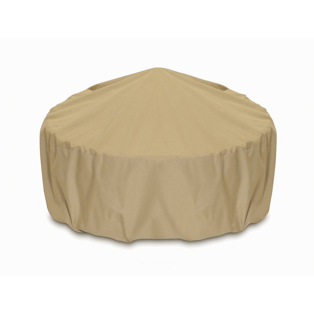 Two Dogs Designs 36-inch Outdoor Fire Pit/Table Cover in Khaki