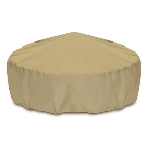 60-inch Outdoor Fire Pit/Table Cover in Khaki