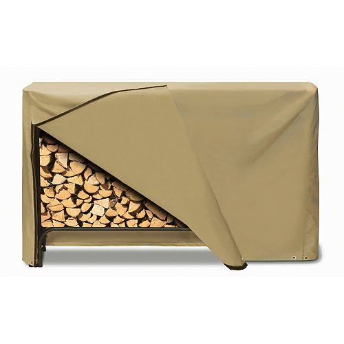 Two Dogs Designs Log Rack Cover, Khaki - 96 Inches