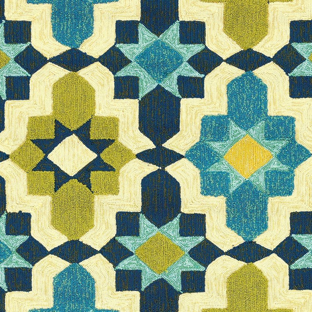 Artistic Weavers Baramit Blue 2 ft. 6-inch x 8 ft. Indoor/Outdoor Transitional Runner