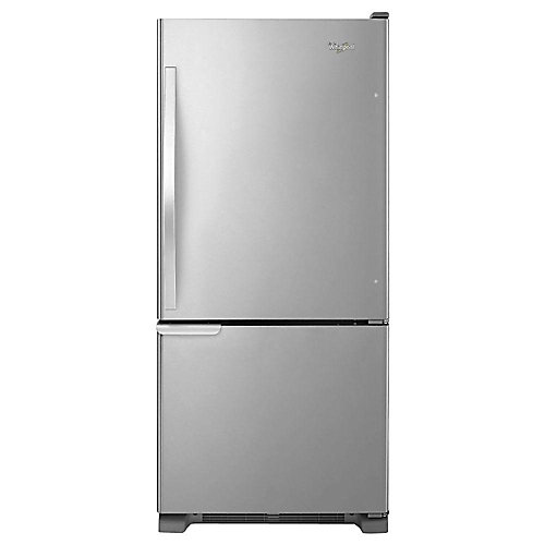30-inch W 18.7 cu. ft. Bottom Freezer Refrigerator in Stainless Steel - ENERGY STAR®