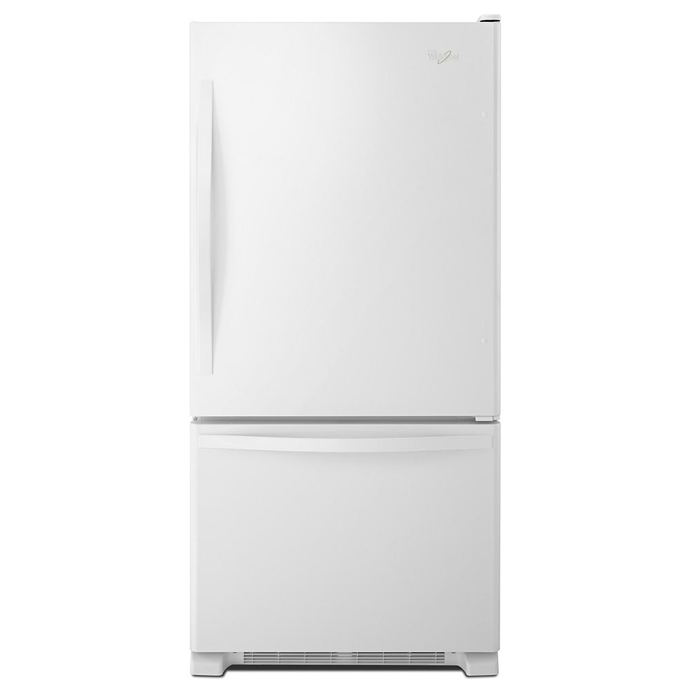 Whirlpool 30-inch W 19 cu. ft. Bottom Freezer Refrigerator in White - ENERGY STAR®