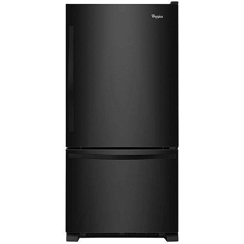 Whirlpool Réfrigérateur de 30 po W 19 pi3 à fond noir pour congélateur - ENERGY STARMD