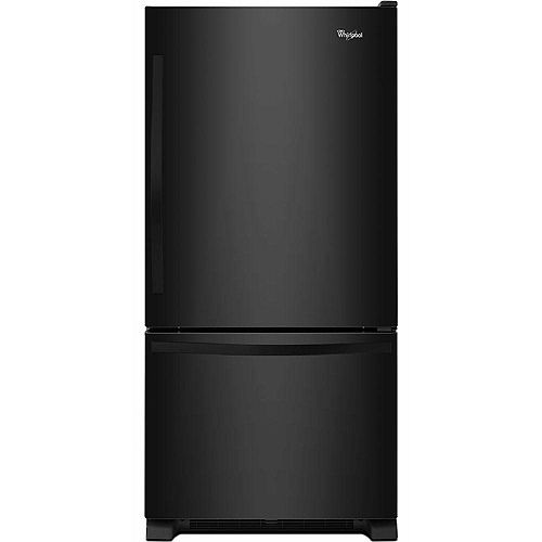 33-inch W 22 cu. ft. Bottom Freezer Refrigerator in Black - ENERGY STAR®