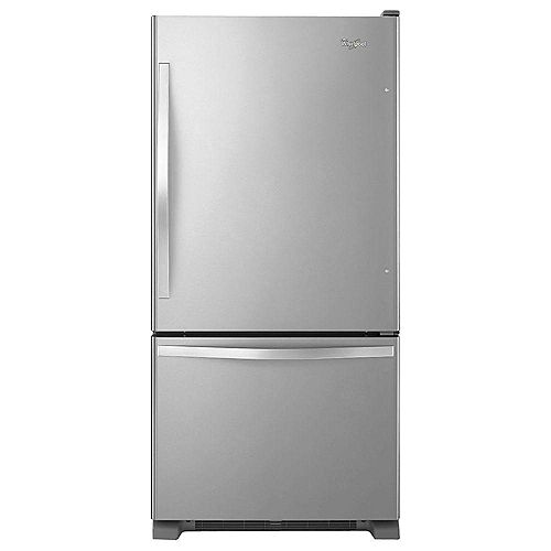 33-inch W 22 cu. ft. Bottom Freezer Refrigerator in Stainless Steel - ENERGY STAR®