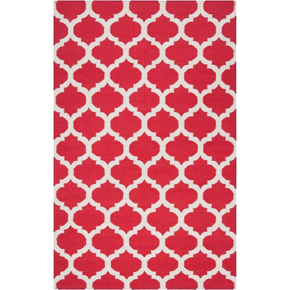 Artistic Weavers Carpette d'intérieur, 2 pi x 3 pi, style contemporain, rectangulaire, rouge Saffre