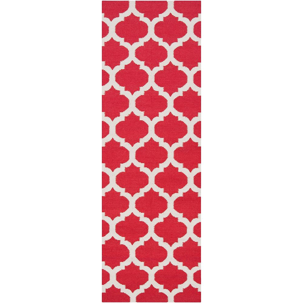 Artistic Weavers Saffre Red 2 ft. 6-inch x 8 ft. Indoor Contemporary Runner