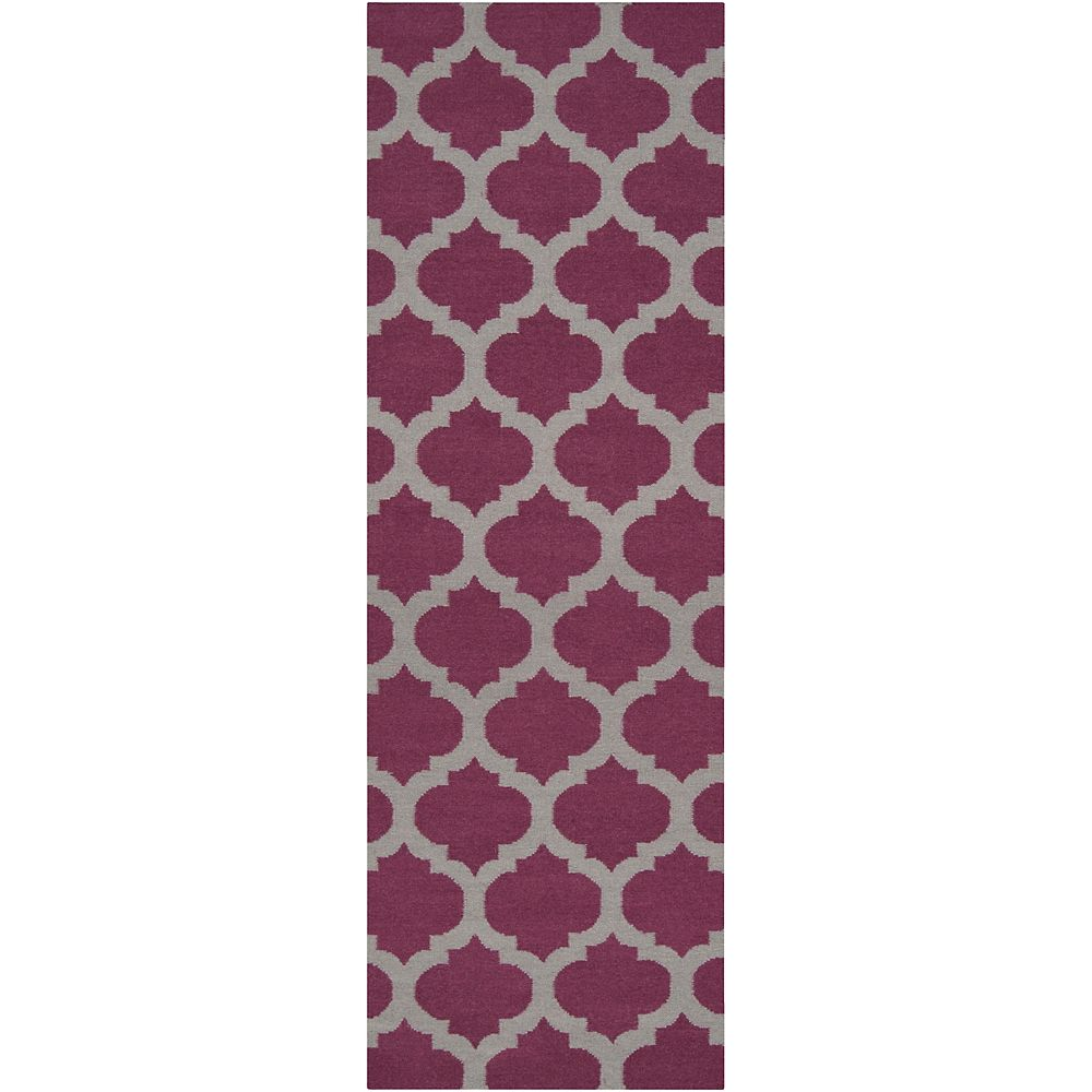 Artistic Weavers Saffre Purple 2 ft. 6-inch x 8 ft. Indoor Contemporary Runner