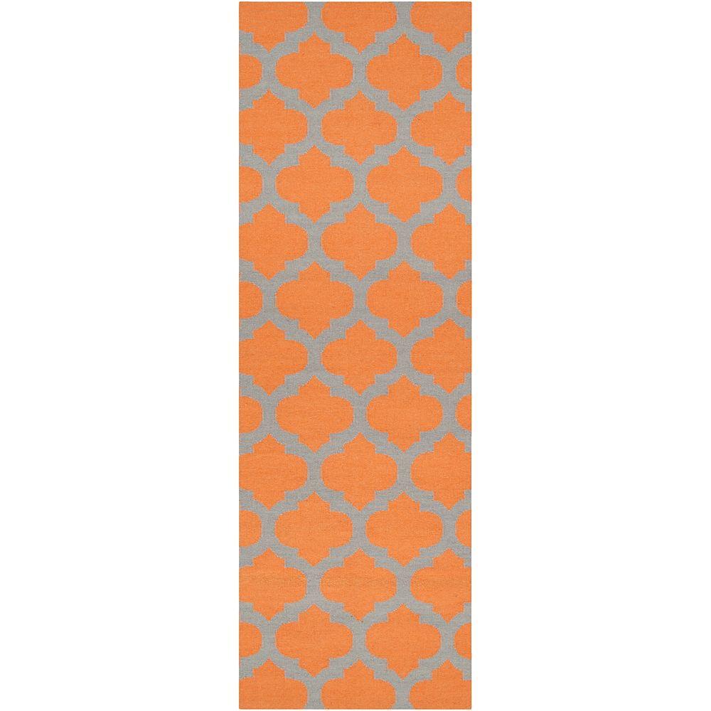 Artistic Weavers Saffre Orange 2 ft. 6-inch x 8 ft. Indoor Contemporary Runner