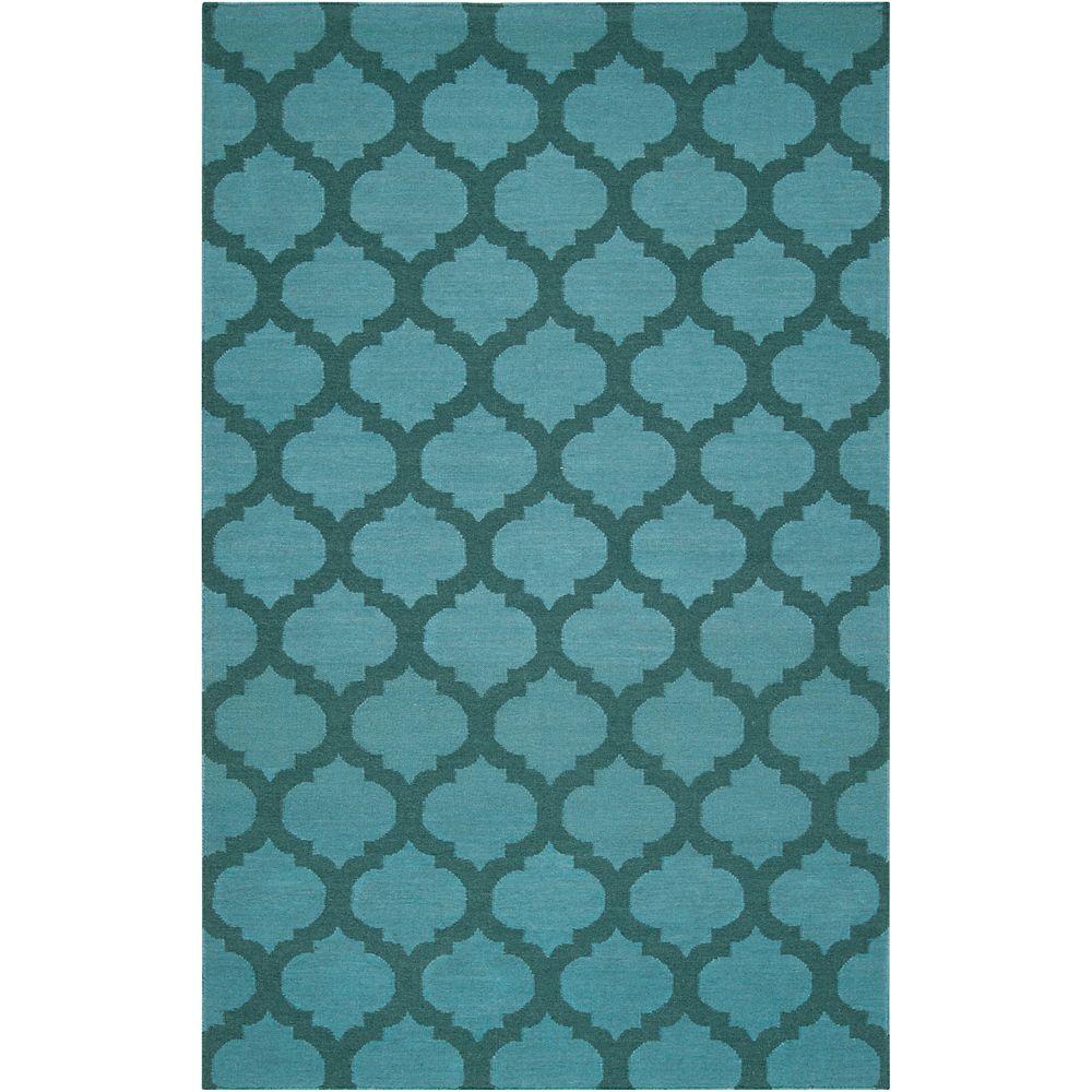 Artistic Weavers Carpette d'intérieur, 2 pi x 3 pi, style contemporain, rectangulaire, bleu Saffre