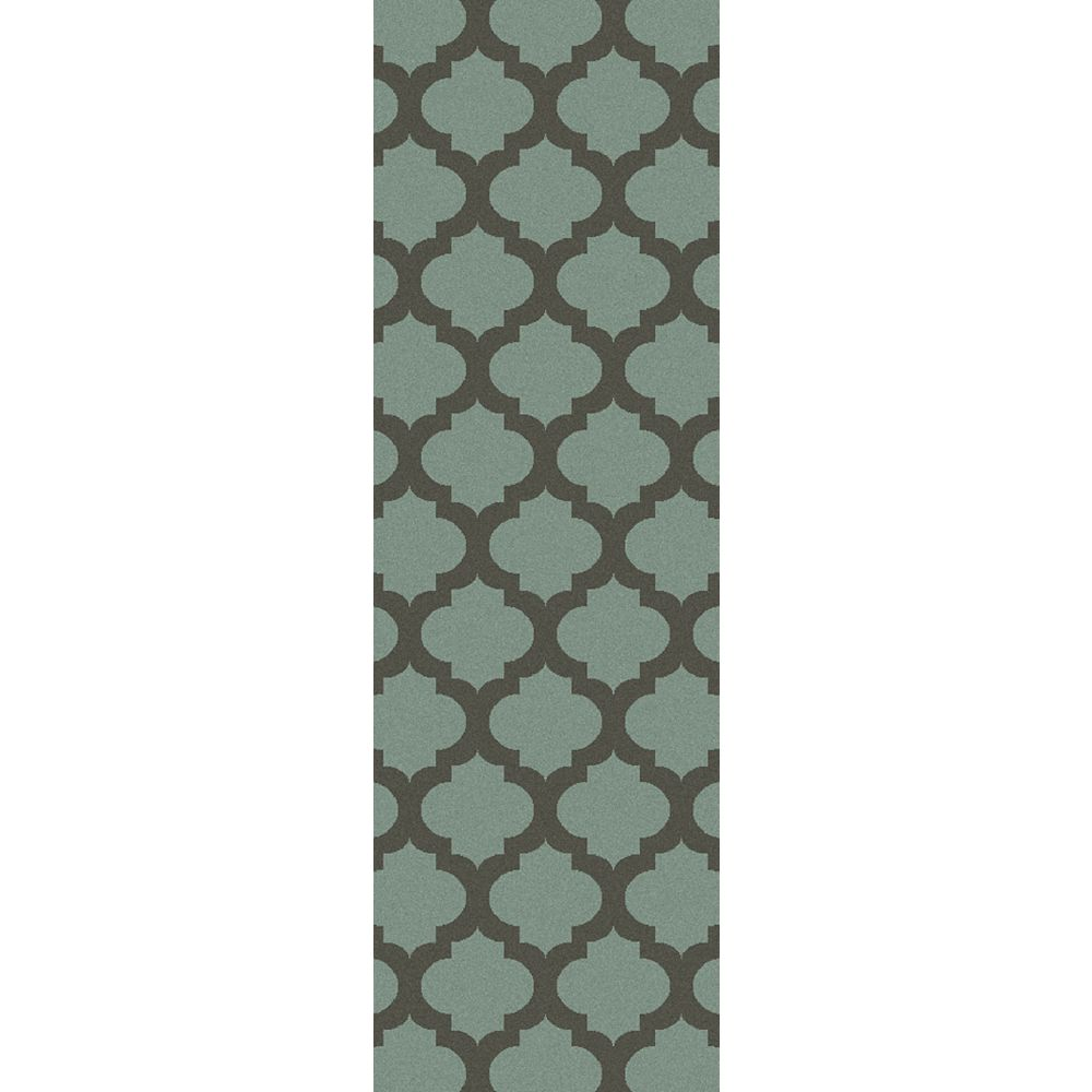 Artistic Weavers Saffre Green 2 ft. 6-inch x 8 ft. Indoor Contemporary Runner