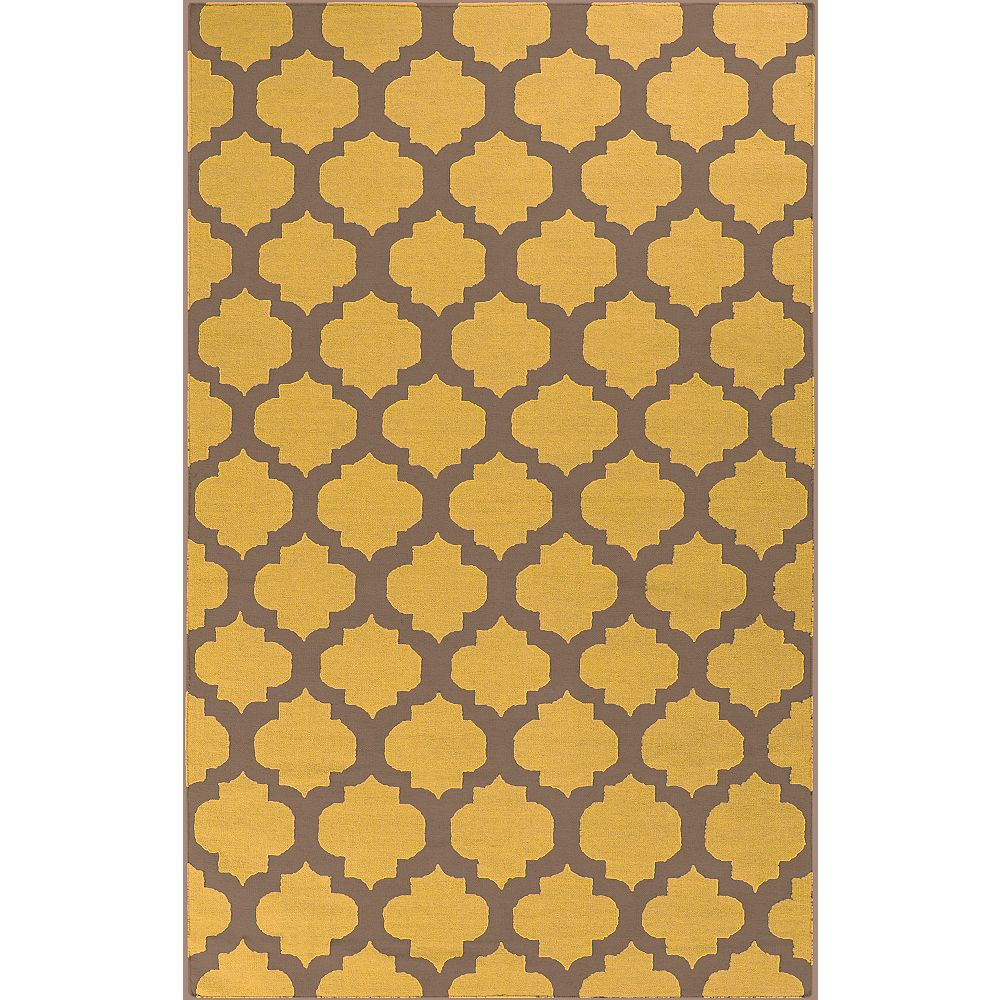 Artistic Weavers Saffre Yellow 3 ft. 6-inch x 5 ft. 6-inch Rectangular Area Rug