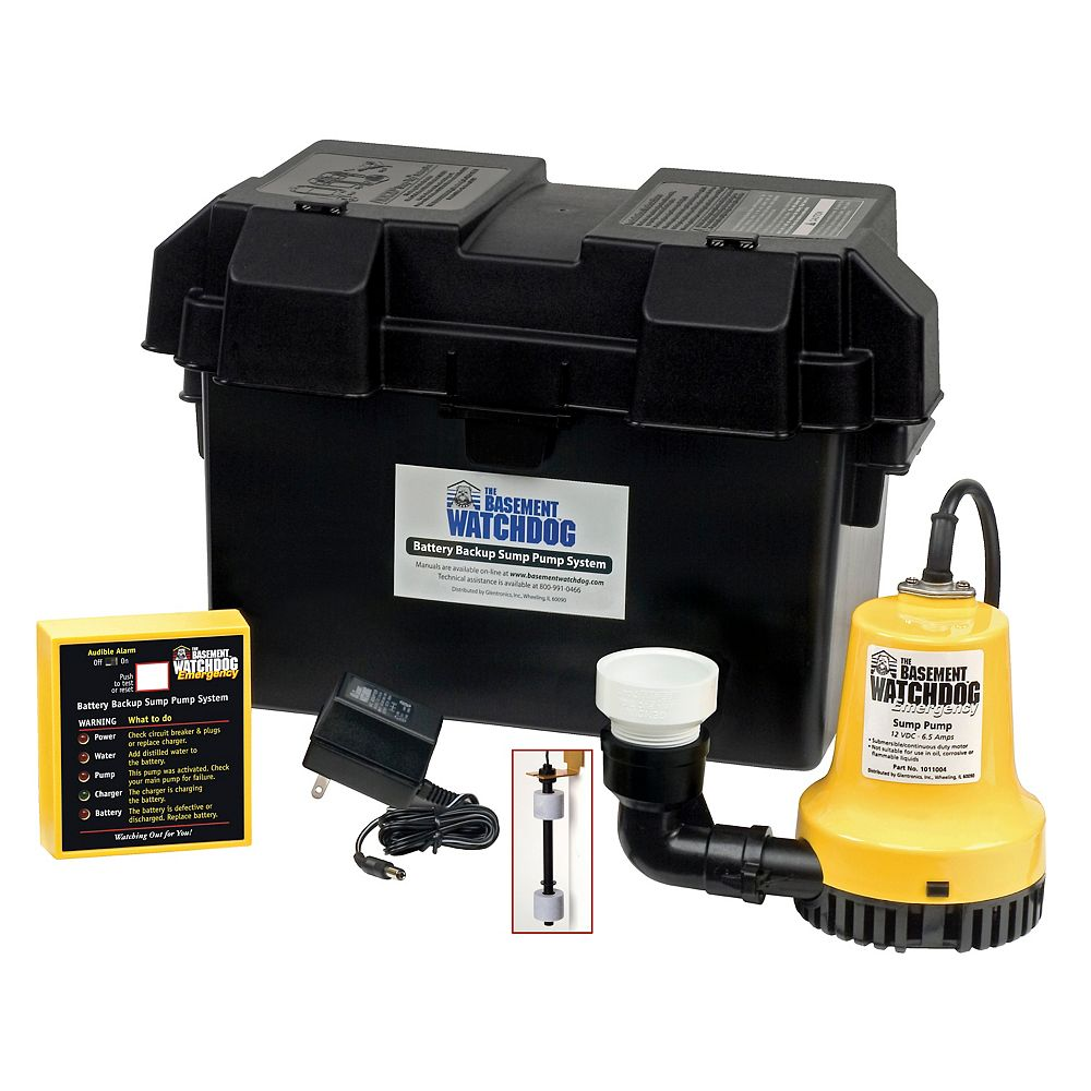 Basement Watchdog 1 4 Hp Emergency Battery Backup Automatic Sump Pump The Home Depot Canada