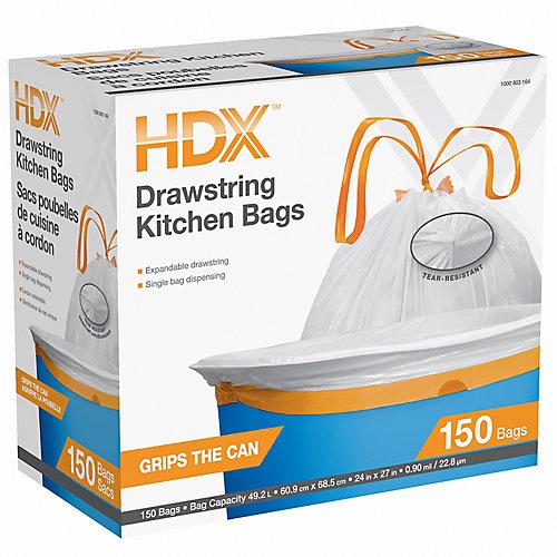 49.2L Drawstring Kitchen Bags 150ct