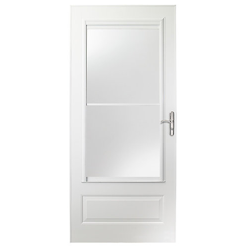 400 Series 36-inch Screen Door in White with Nickel Hardware