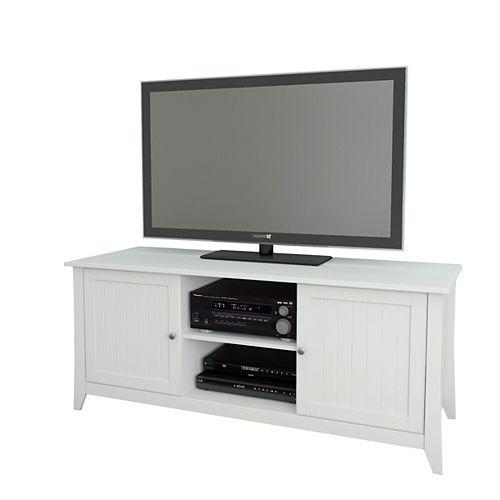 Vice Versa 58-inch x 24.5-inch x 21-inch TV Stand in White