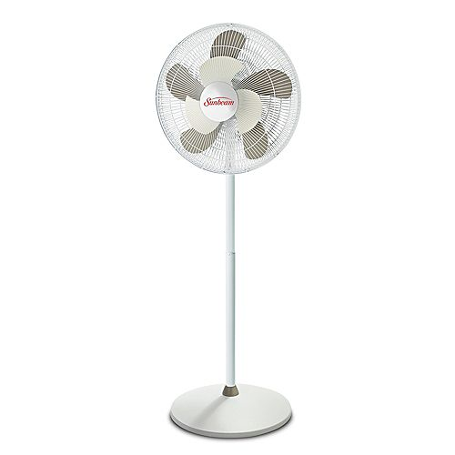 16 Inch White 2Cool Oscillating Stand Fan