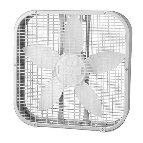 20 Inch White Box Fan