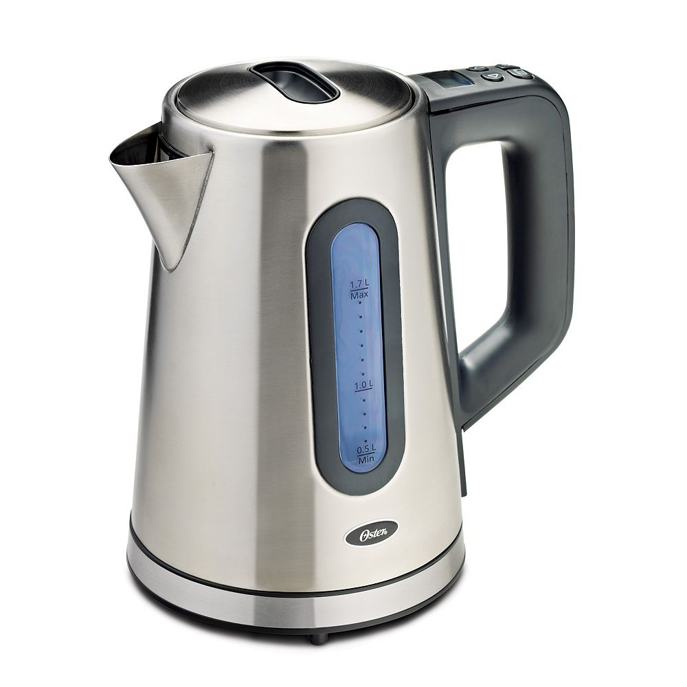 Oster 1.7 L Programmable Kettle, Stainless Steel
