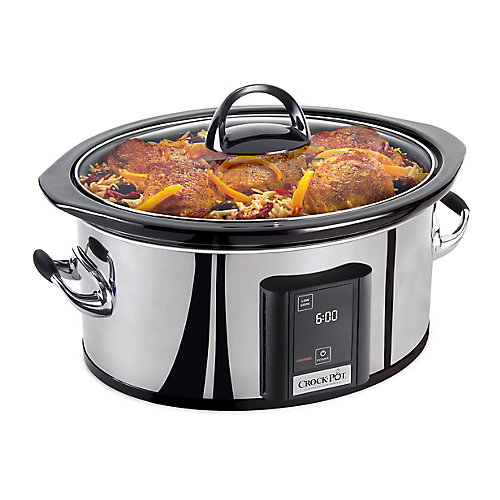 6.5 Qt. Polished Programmable Slow Cooker with Touch Screen