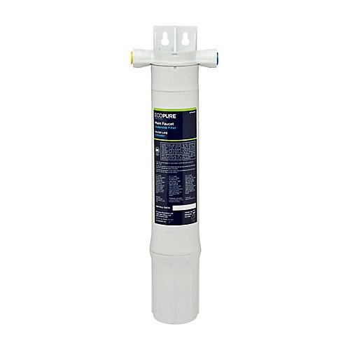 Système de filtration pour dessous d'évier de robinet principal