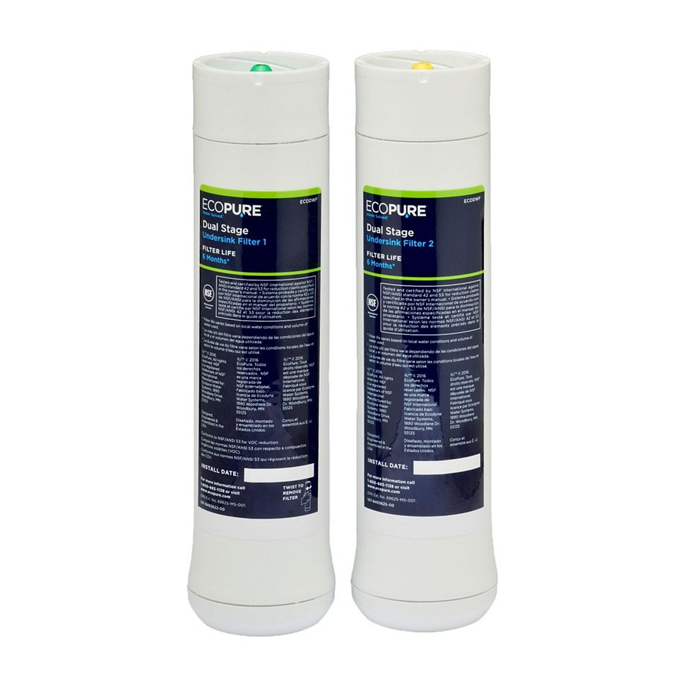 EcoPure Dual Stage Replacement Filter Set