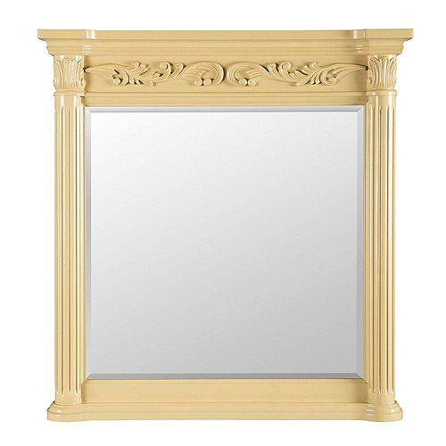 Estates 38-inch L x 36-inch W Wall Mirror in Antique White