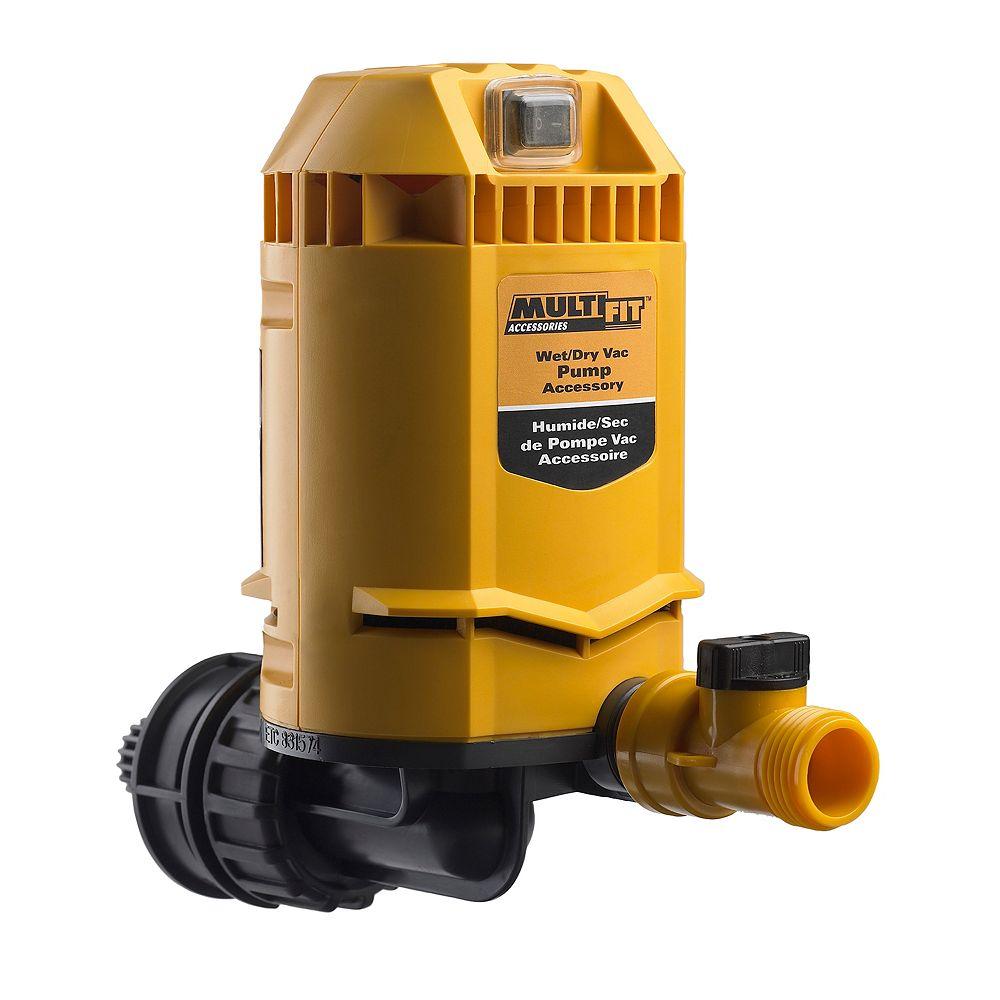 Multi-Fit Pompe universelle pour aspirateurs secs/humides