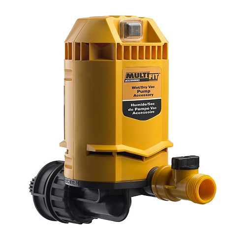 Universal Pump for Wet/Dry Vacuums
