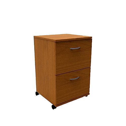 Classeur à 2tiroirs Essentials, 18,63po x 26,63po x 17,63po, bois manufacturé, marron
