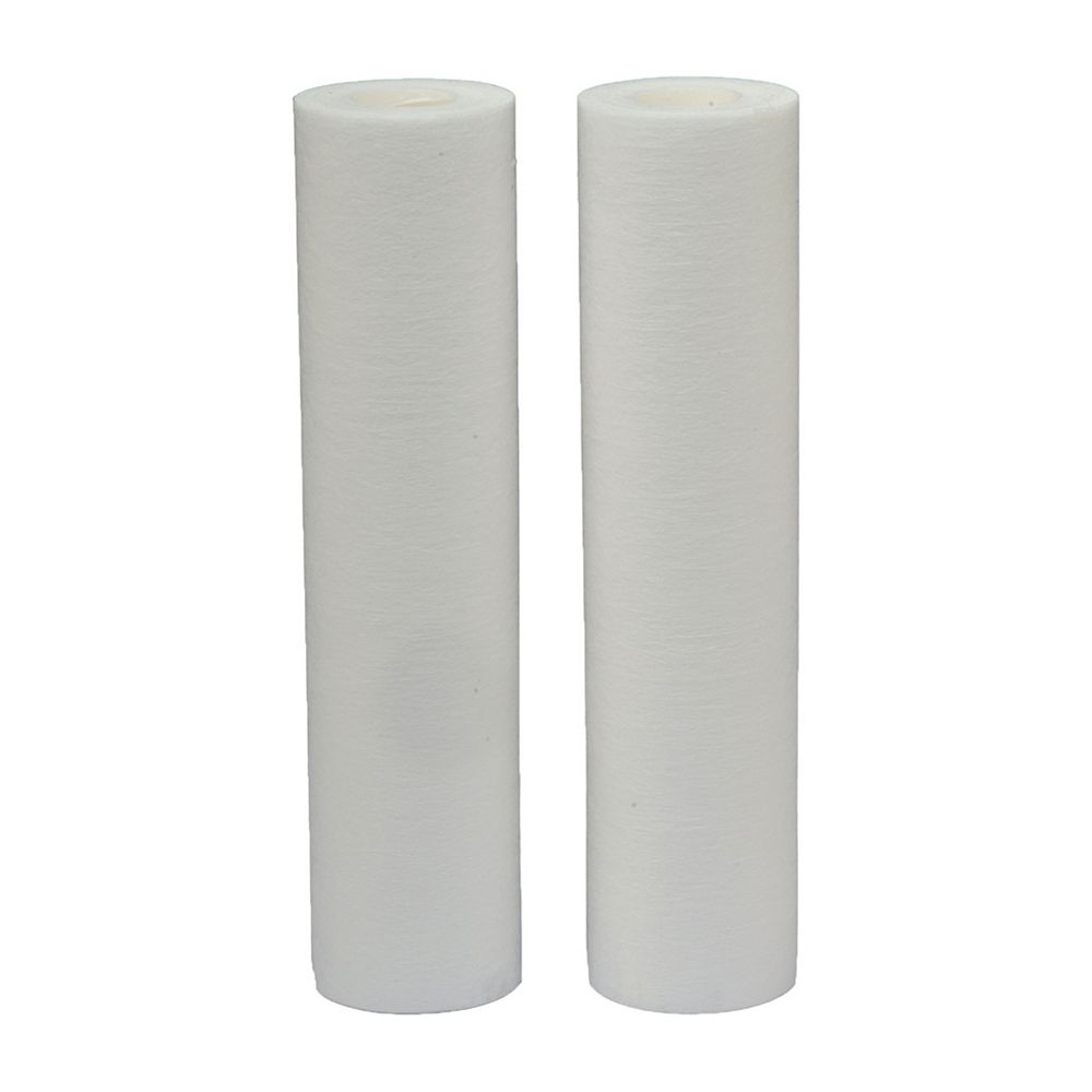 EcoPure Melt Blown Universal Replacement Water Filters, 2.5 inch x 10 inch (2-Pack)