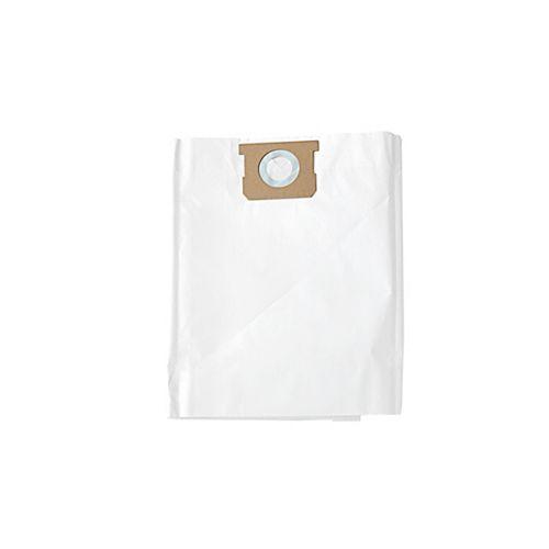 Sacs filtrants standard de rechange pour aspirateur pour déchets humides/secs de 5 à 9 gallons américains