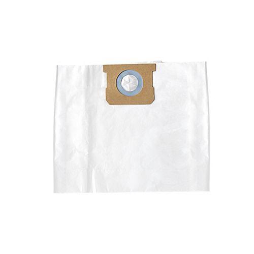 Sacs filtrants standard de rechange pour aspirateur pour déchets humides/secs de 10 à 15 gallons américains