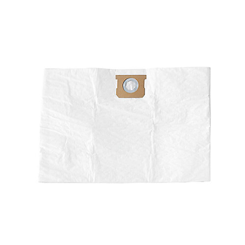 Wet/Dry Vacuum 10-15 U.S. Gallon Replacement HEPA Synthetic Filter Bags