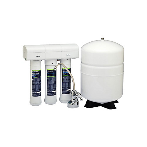 Reverse Osmosis Undersink Chlorine, Lead, and Microbe Water Filtration System