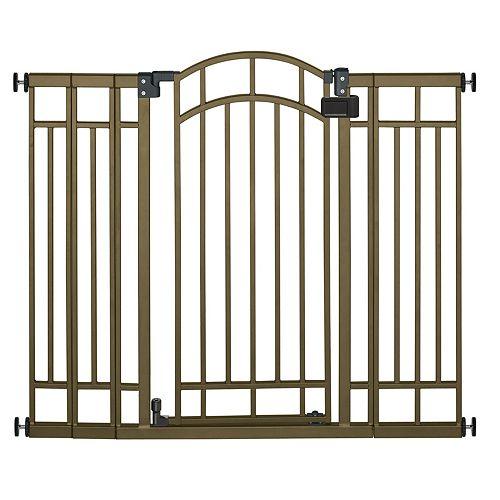 Barrière décorative très large et haute en bronze
