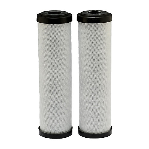 Carbon Block Universal Replacement Water Filters, 2.5 inch x 10 inch (2-Pack)