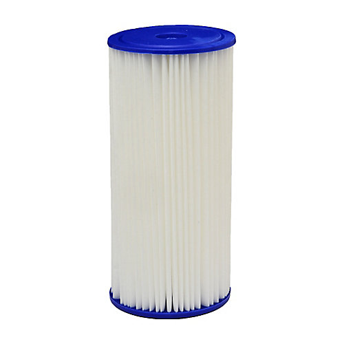 Pleated Universal Replacement Water Filters, 4.5 inch x 10 inch