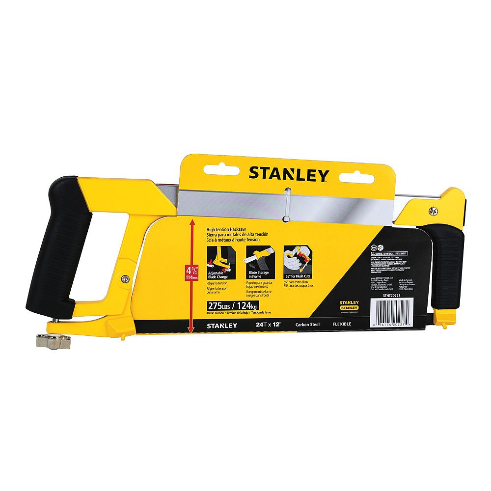 STANLEY HIGH TENSION HACK SAW WITH BLADE STORAGE