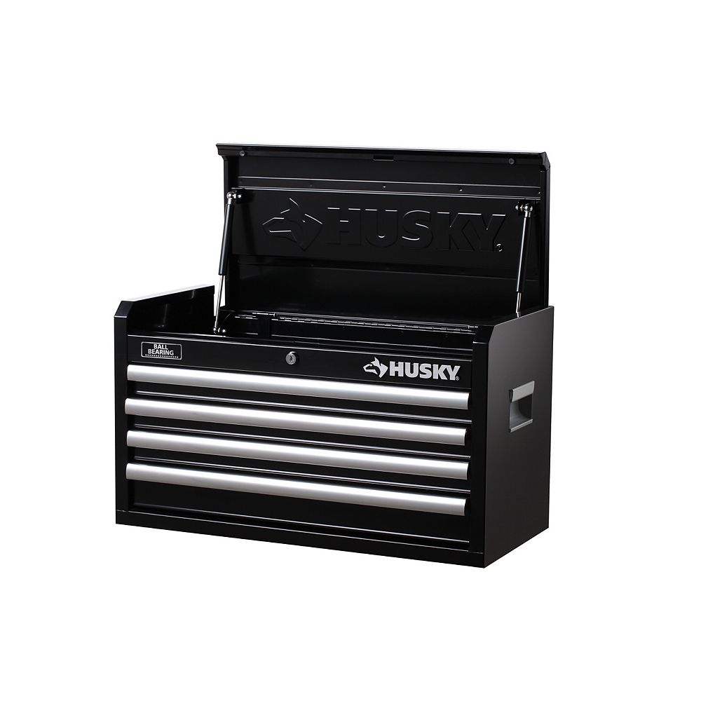 Husky 26-inch W 4-Drawer Tool Storage Chest in Black