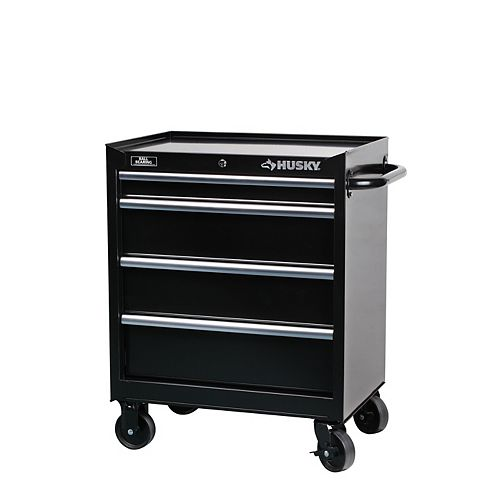 27-inch W 4-Drawer Mobile Tool Storage Cabinet in Black