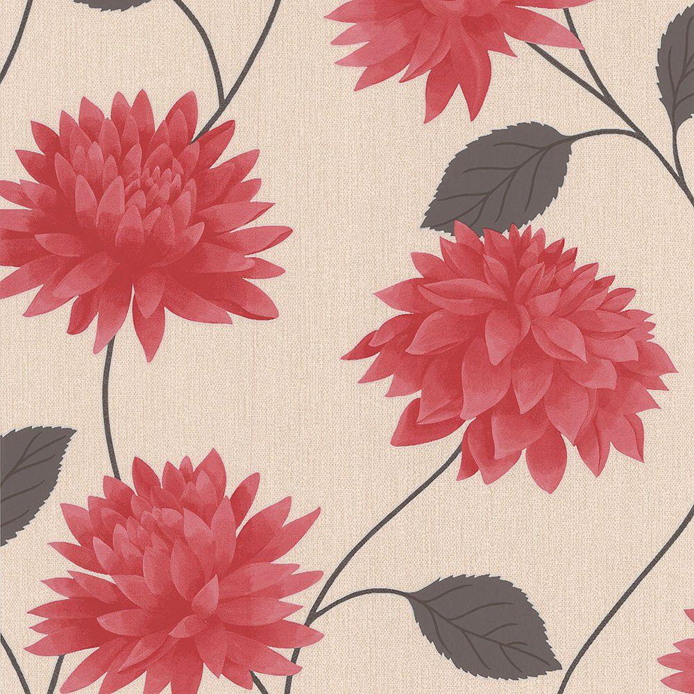 Graham & Brown Romance Papier Peint Rouge/Brun/Crème